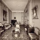 Interior photograph - boudoir in the Pálffy Palace of Királyfa
