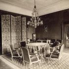 Interior photograph - dining hall in the Pálffy Palace of Királyfa