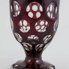 Footed cup - with grinded decoration