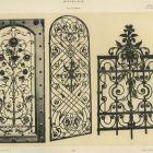 Design sheet - ironwork gate, stove and balcony railing