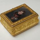 Gold snuffbox - with miniature of George IV, King of England
