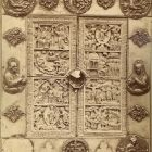 Photograph - ivory diptych from the treasury of Zágráb cathedral at the Exhibition of Applied Arts 1876