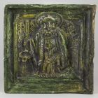 Stove tile - with the bust of Saint Peter