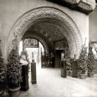 Interior photograph - passage from the entrance hall, Hungarian Pavilion in Venice