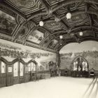Exhibition photograph - so called Hussar (cavalryman) room of the Hungarian Pavilion, Paris Universal Exposition 1900