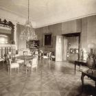 Interior photograph - yellow salon in the Pálffy Palace of Királyfa