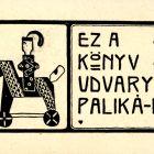 Ex-libris (bookplate) - Pál Udvary