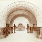 Exhibition photograph - passage from the exhibition hall towards the entrance hall, Milan Universal Exposition 1906