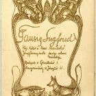 Advertisement card - for the frame tradesman Siegfried Tausig