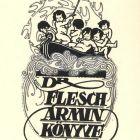 Ex-libris (bookplate) - Ármin Flesch