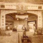 Exhibition photograph - gate of the Hungarian Pavilion, Turin Exhibition of Decorative Art 1902