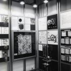 Exhibition photograph - the textile technics section of the standing exhibition 'Arts & Crafts' in the Museum of Applied Arts