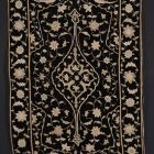 Velvet carpet - with embrodiered decoration