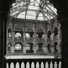 Architectural photograph - the glass hall of the Museum of Applied Arts after World War II