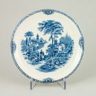 Dessert plate - decorated with transfer print