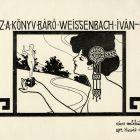 Ex-libris (bookplate) - Iván Weissenbach