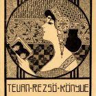 Ex-libris (bookplate) - Rezső Tevan