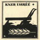 Ex-libris (bookplate) - Imre Kner