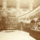 Exhibition photograph - artworks made for the Hussar room of the Hungarian Pavilion of the Paris Universal Exposition 1900, displayed previously in the Museum of Applied Arts