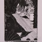 Ex-libris (bookplate) - Aladár Sarkadi