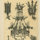 Design sheet - canslesticks, table decoration and chandelier