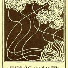 Advertisement card - royal carpenter Ludwig Schmitt, Vienna