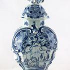 Ornamental vessel with lid