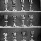 Exhibition photograph - Gothic chalices at the goldsmith's exhibition of 1884