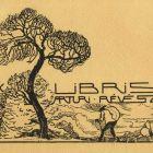 Ex-libris (bookplate) - Artúr Révész