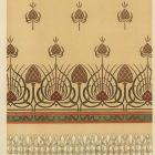 Design sheet - design for a damask apron