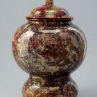 Ornamental vessel with lid (vase urn)