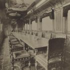 Interior photograph - the dining car of the Royal Train of the Hungarian State Railways (MÁV)