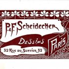 Advertisement card - Paul & Frank Scheidecker, Paris
