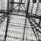 Architectural photograph - glass roof of the exhibition hall of the Museum of Applied Arts after the fighting in the 1956 Revolution
