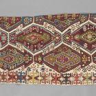 szövött szőnyeg-pár (kilim) egyik fele