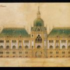Plan - main facade, Museum of Applied Arts