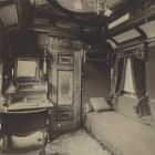 Interior photograph - salon of the Royal Train of the Hungarian State Railways (MÁV)
