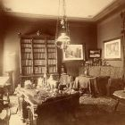 Interior photograph - study in the Palace of Alajos Károlyi (Estreházy str., today Pollack M. sq.)