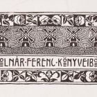 Ex-libris (bookplate) - Ferenc Molnár