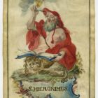 Devotional image - Saint Jerome in cardinal's robes